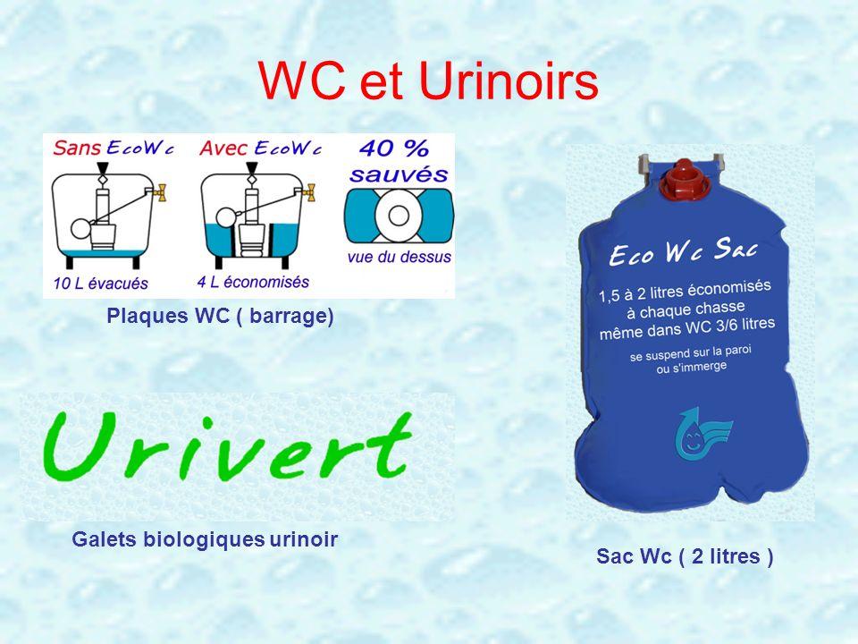 WC et Urinoirs Plaques WC ( barrage) Galets biologiques urinoir