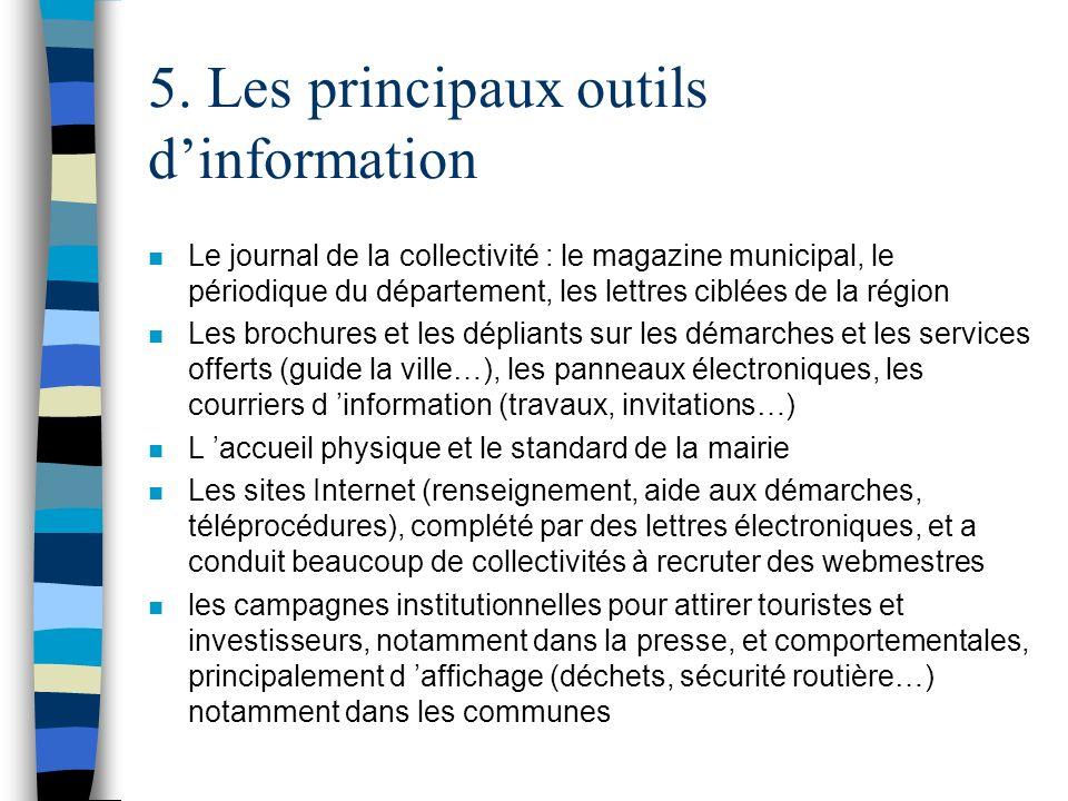 5. Les principaux outils d'information