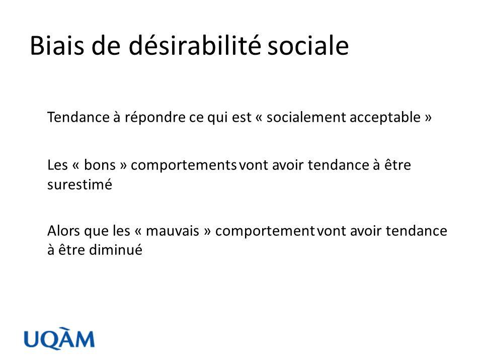 Biais de désirabilité sociale