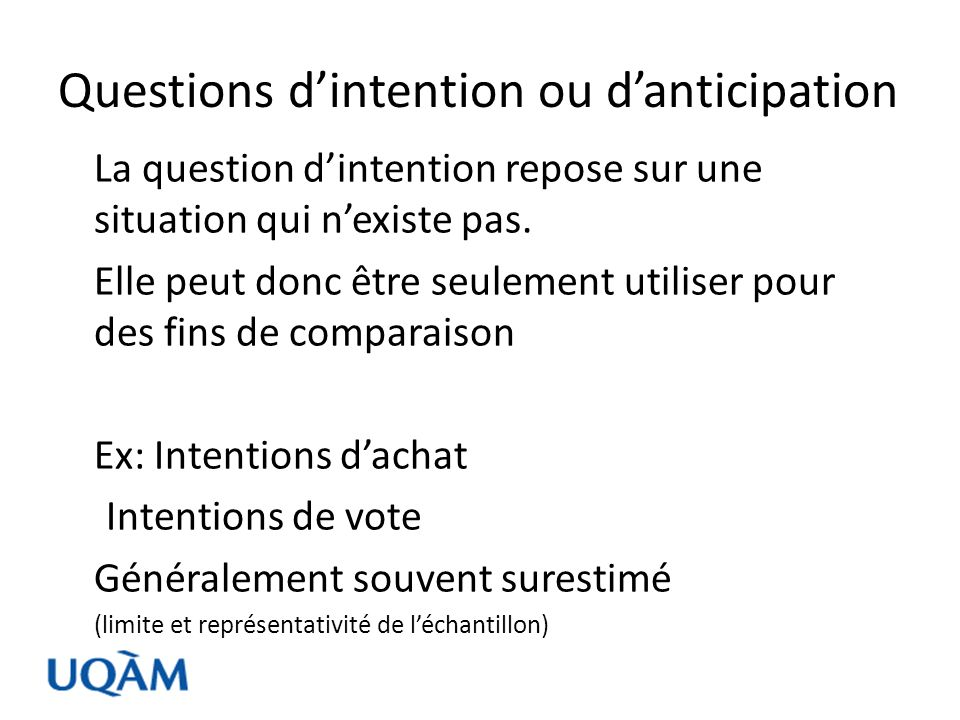 Questions d'intention ou d'anticipation