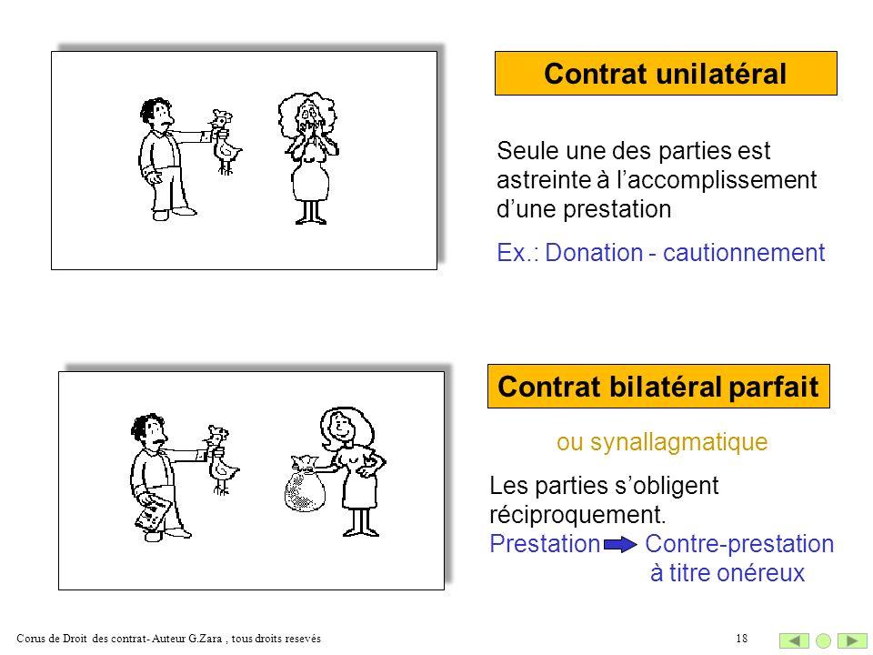 Contrat bilatéral parfait