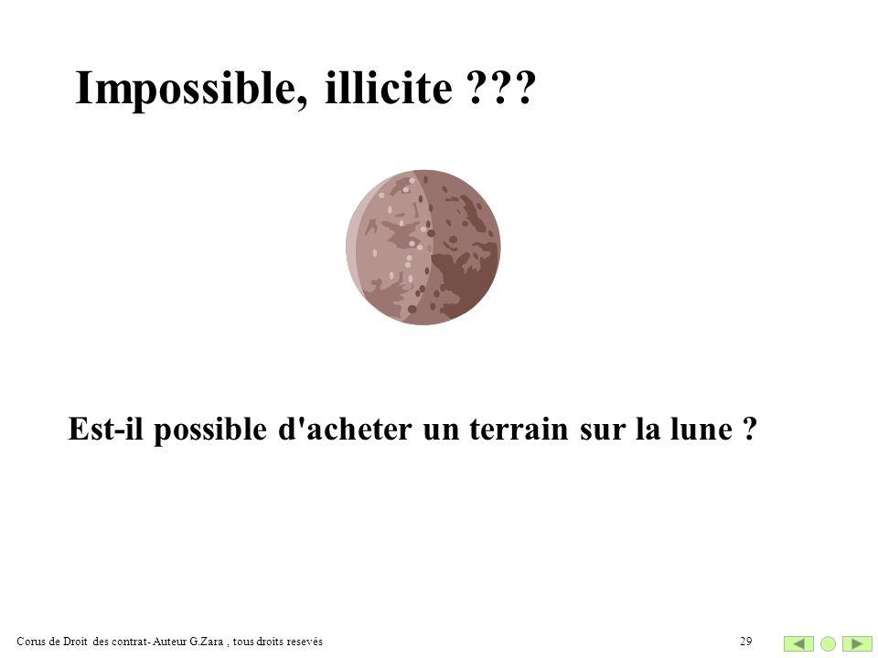 Impossible, illicite . Est-il possible d acheter un terrain sur la lune .