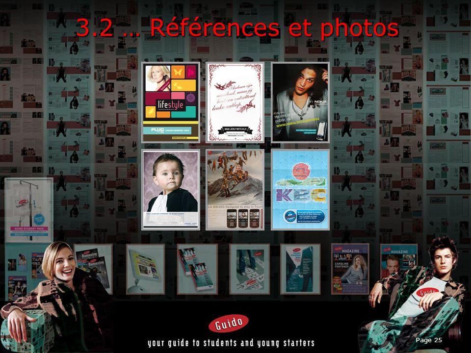 3.2 … Références et photos