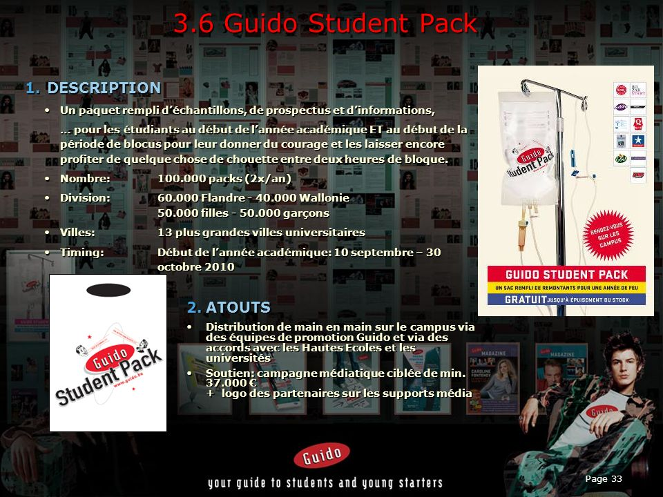 3.6 Guido Student Pack DESCRIPTION ATOUTS