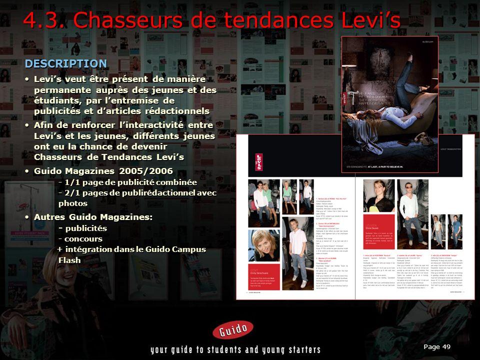 4.3. Chasseurs de tendances Levi's