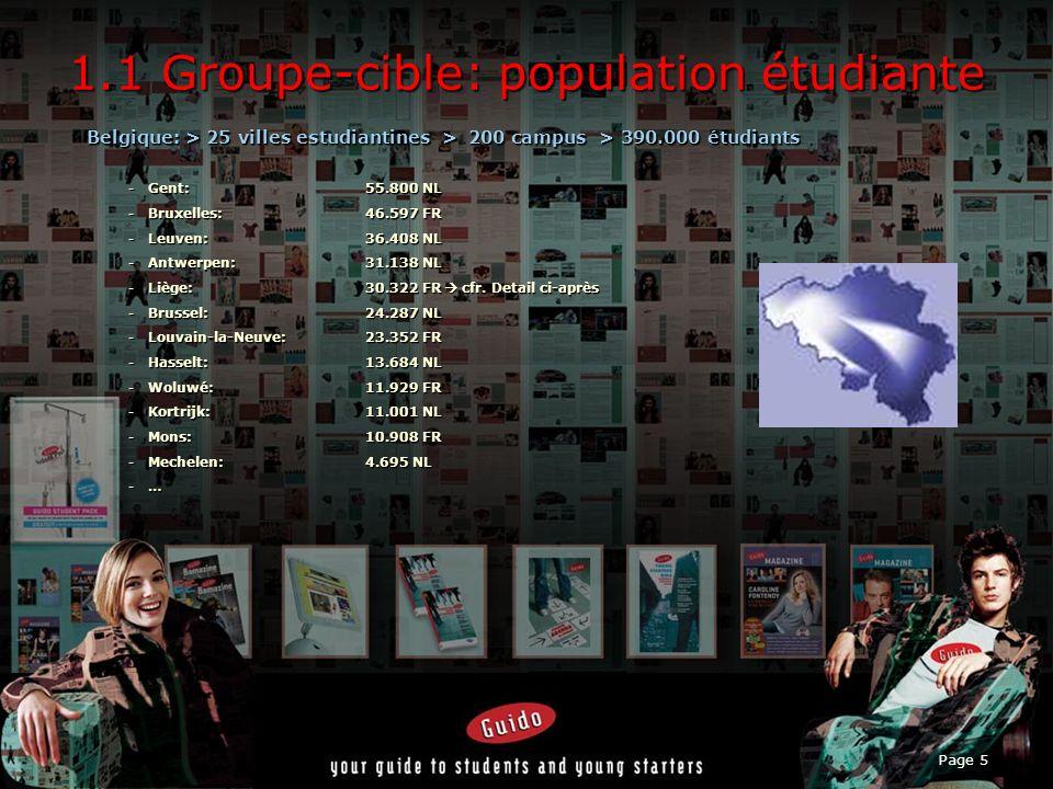 1.1 Groupe-cible: population étudiante