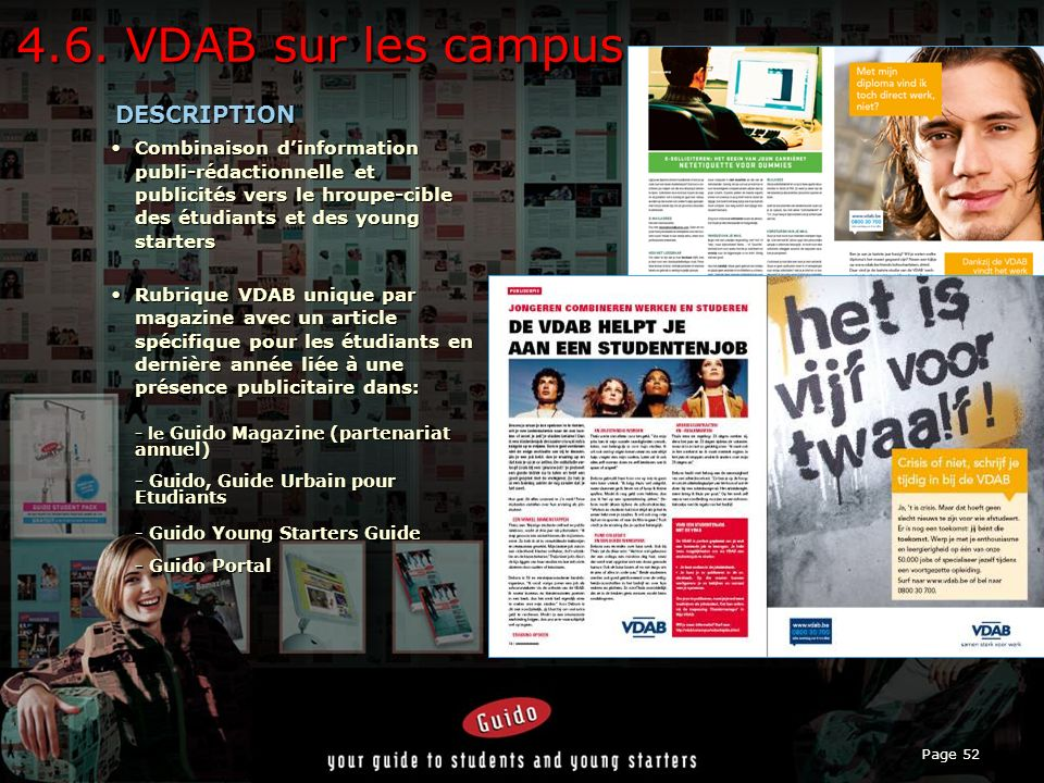 4.6. VDAB sur les campus DESCRIPTION