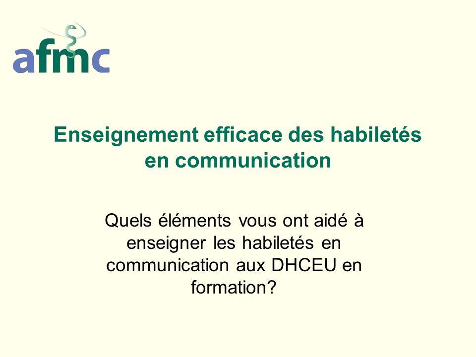 Enseignement efficace des habiletés en communication