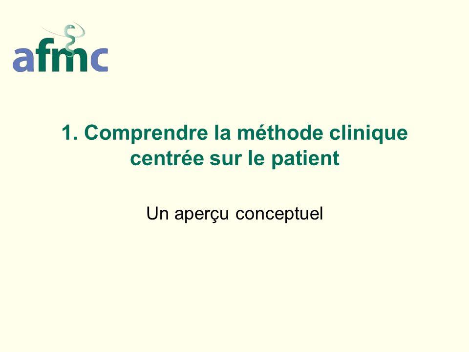 1. Comprendre la méthode clinique centrée sur le patient