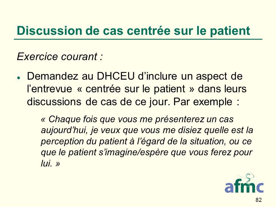 Discussion de cas centrée sur le patient