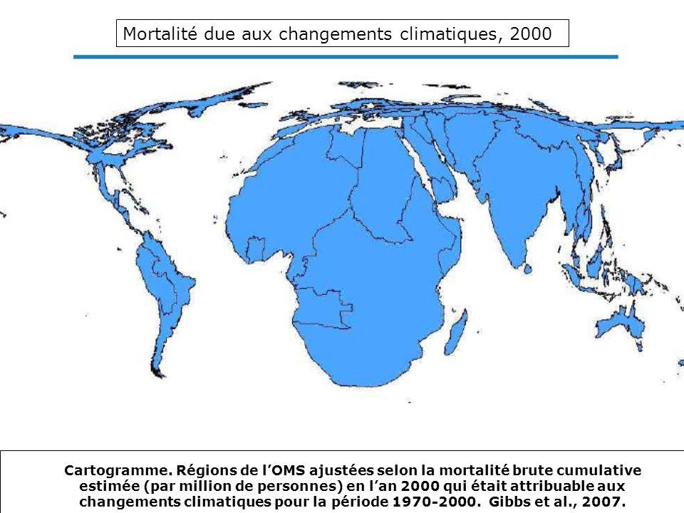 Mortalité due aux changements climatiques, 2000