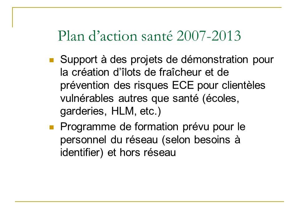Plan d'action santé 2007-2013