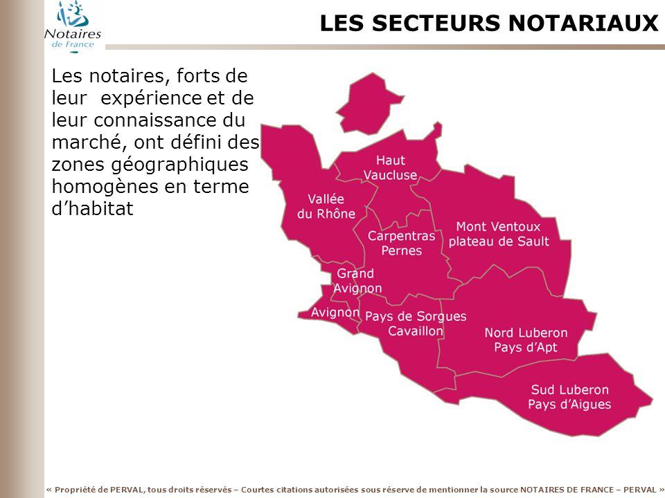 LES SECTEURS NOTARIAUX