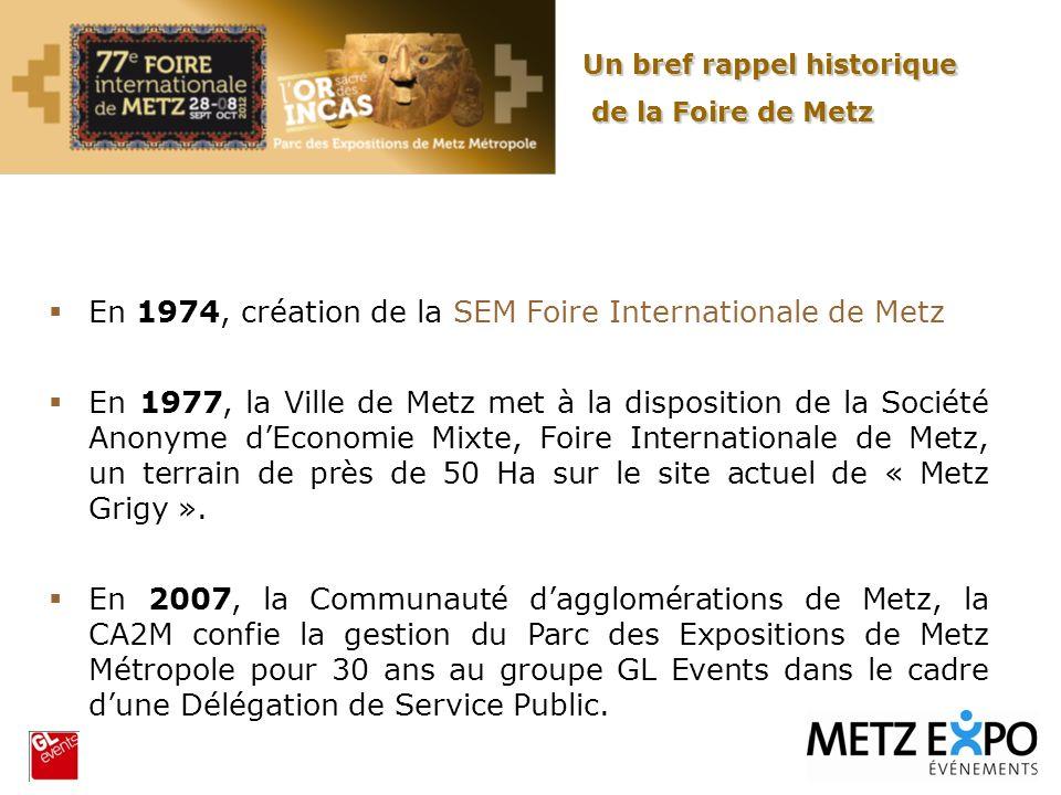 En 1974, création de la SEM Foire Internationale de Metz