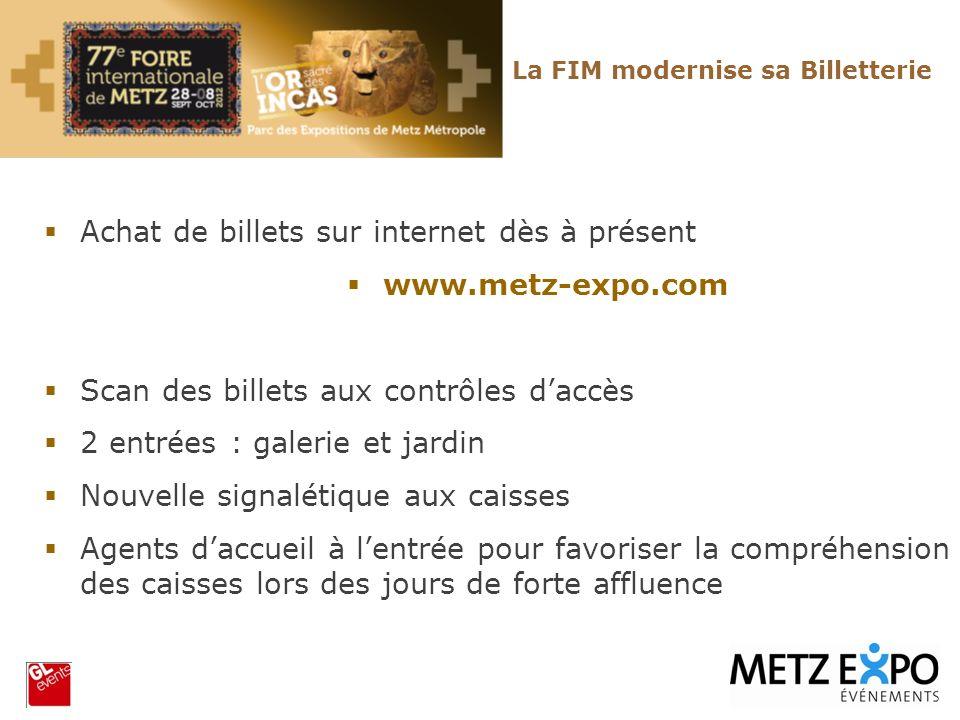 Achat de billets sur internet dès à présent www.metz-expo.com