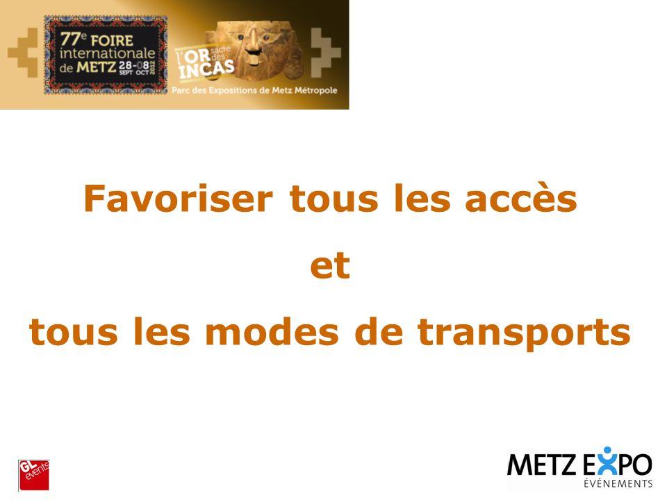 Favoriser tous les accès tous les modes de transports