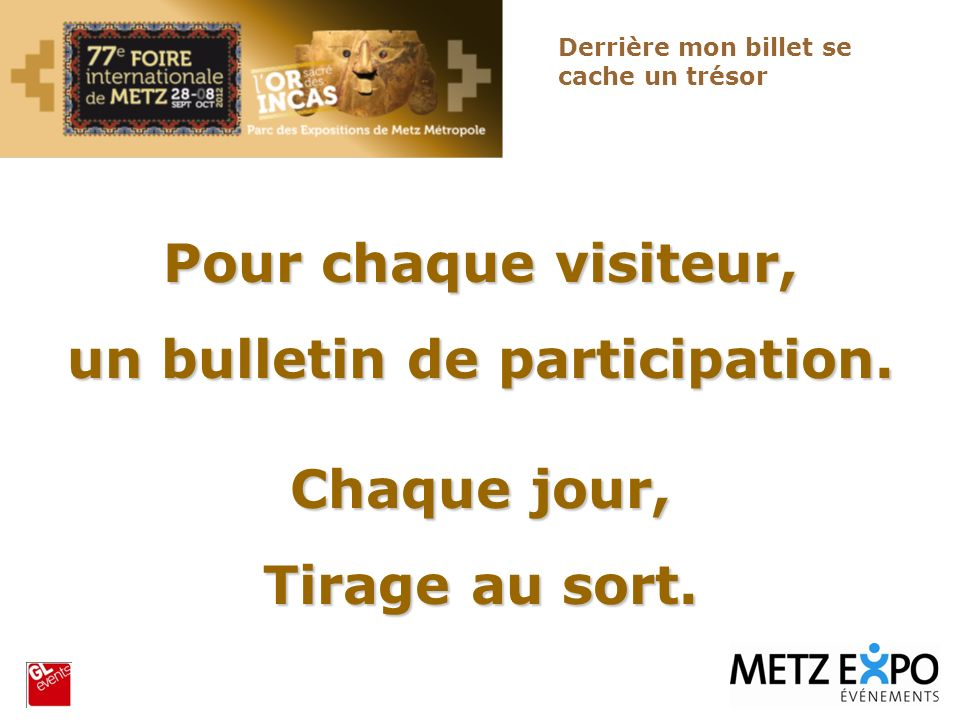 un bulletin de participation.