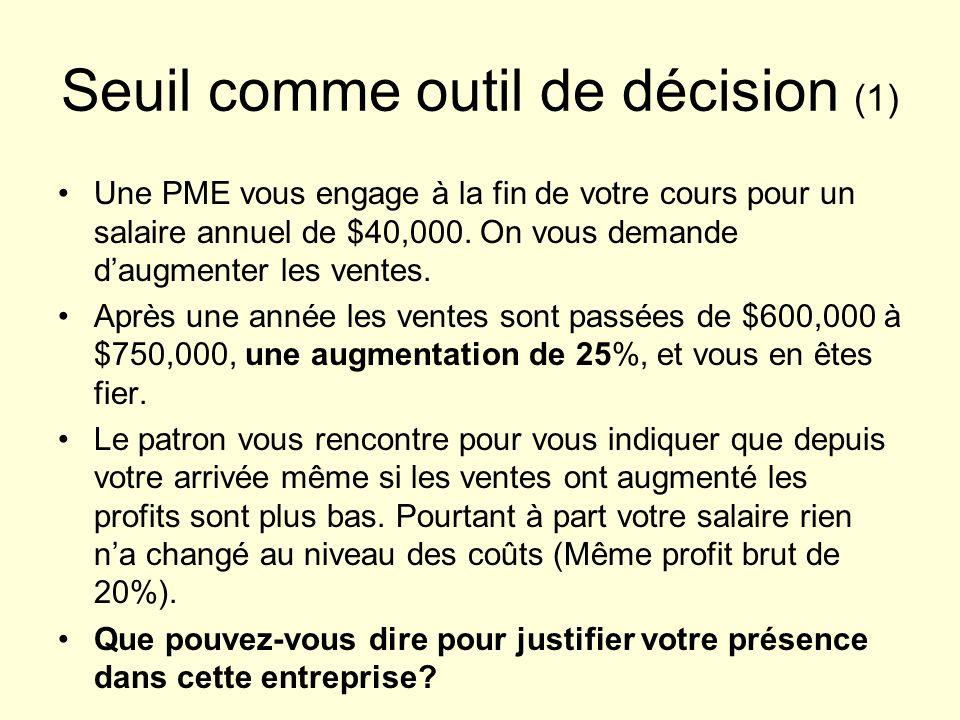 Seuil comme outil de décision (1)