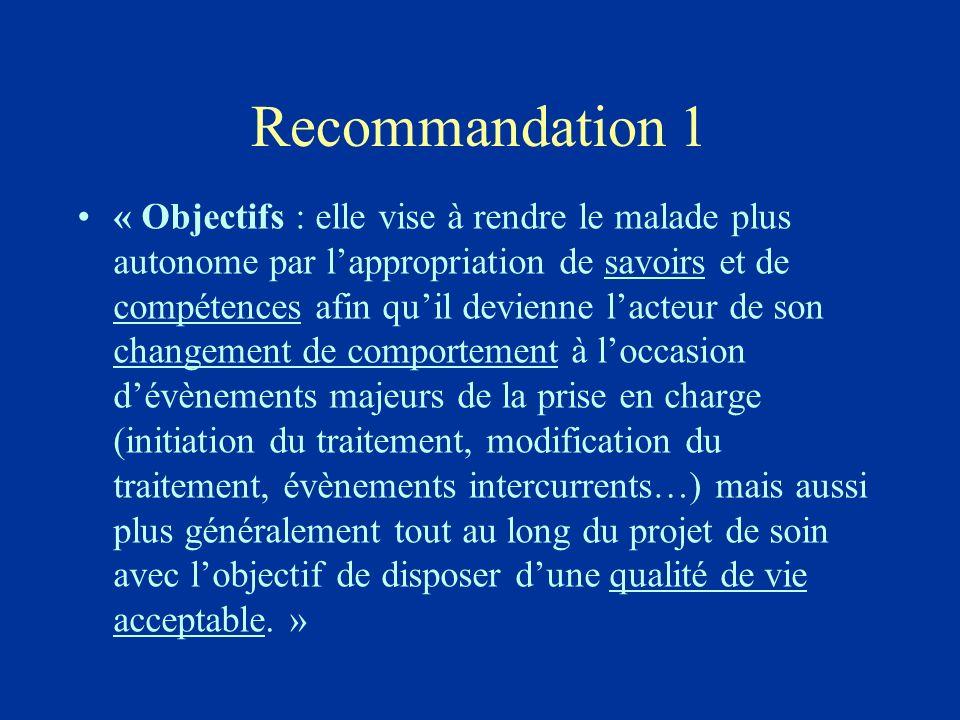 Recommandation 1
