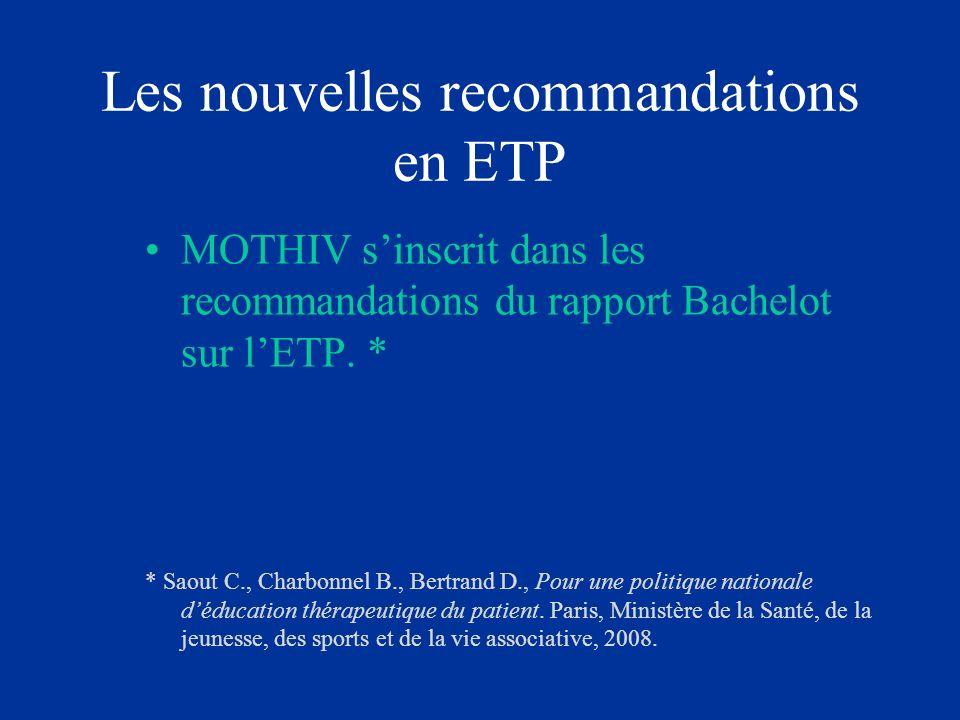 Les nouvelles recommandations en ETP