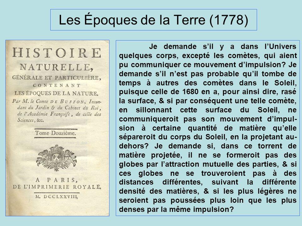 Les Époques de la Terre (1778)