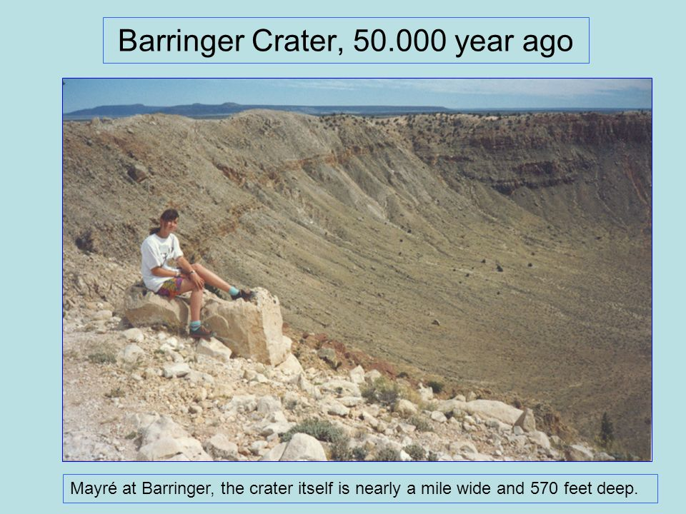 Barringer Crater, 50.000 year ago