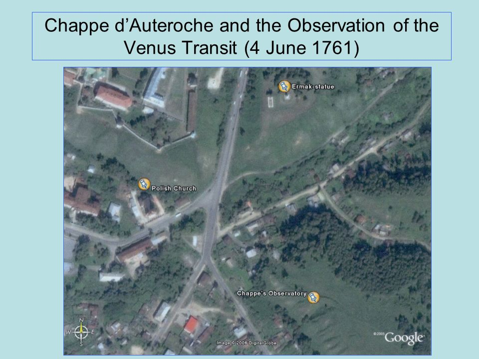 Chappe d'Auteroche and the Observation of the Venus Transit (4 June 1761)
