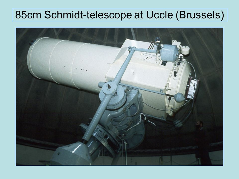 85cm Schmidt-telescope at Uccle (Brussels)