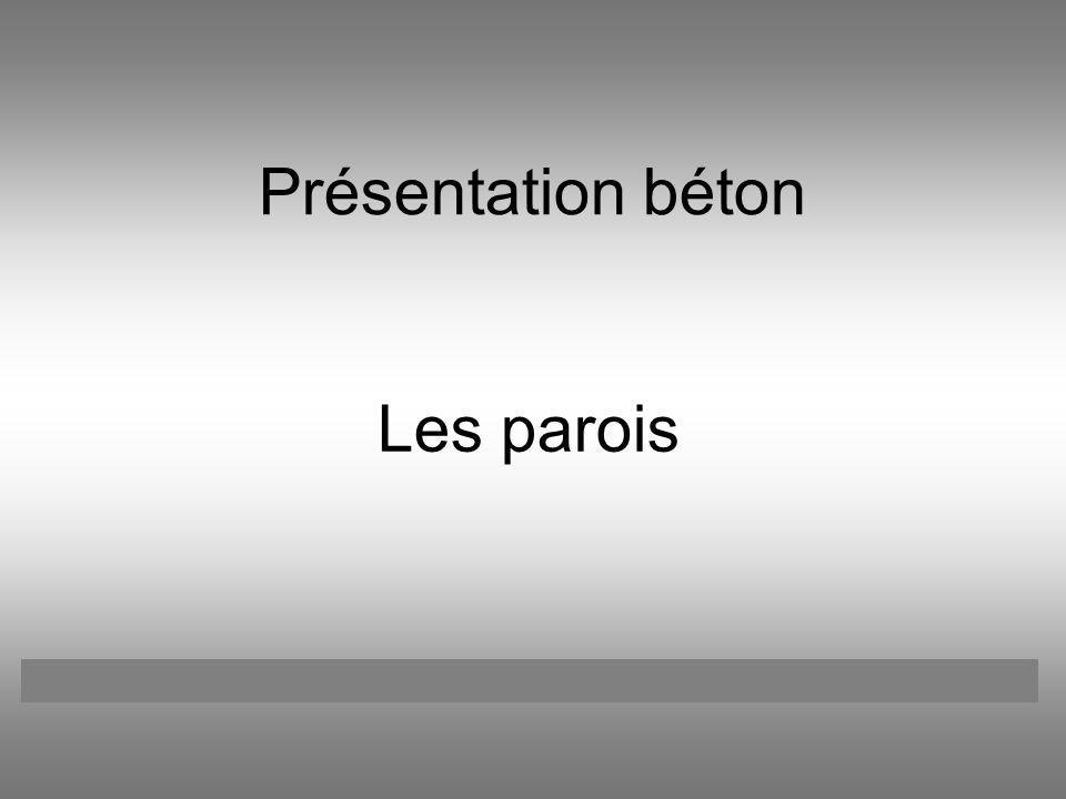 Présentation béton Les parois Catherine BOREUX François LATOUR