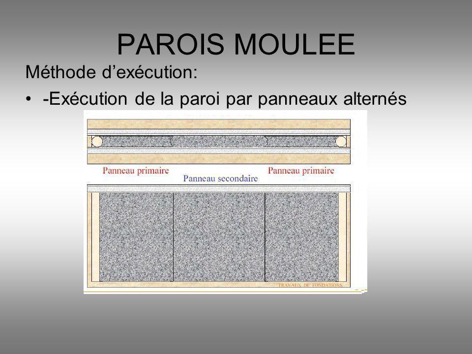 PAROIS MOULEE Méthode d'exécution: