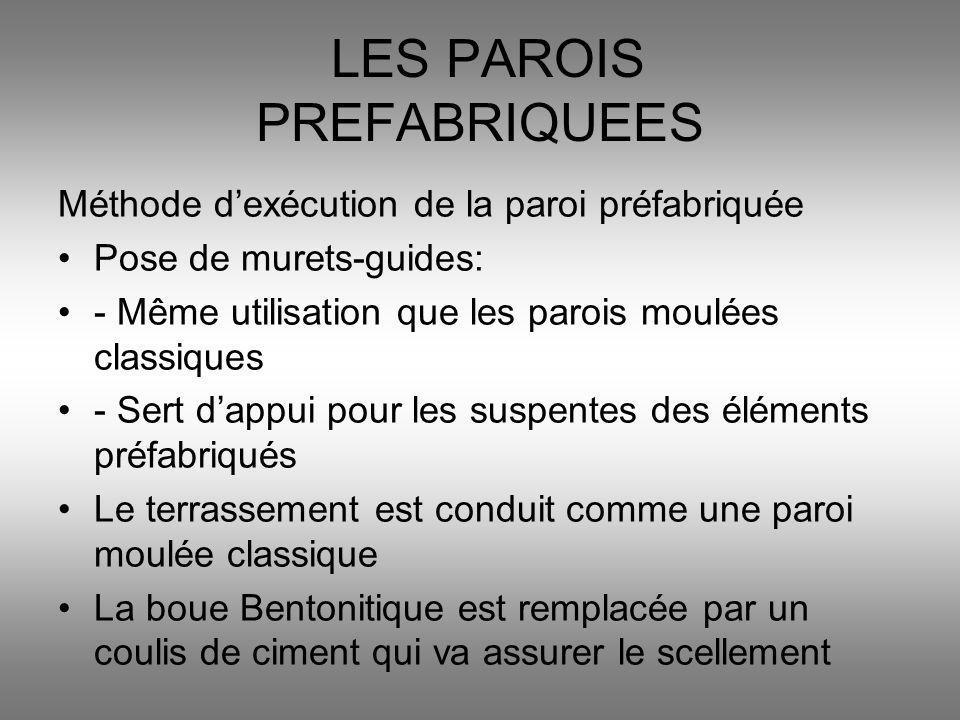 LES PAROIS PREFABRIQUEES