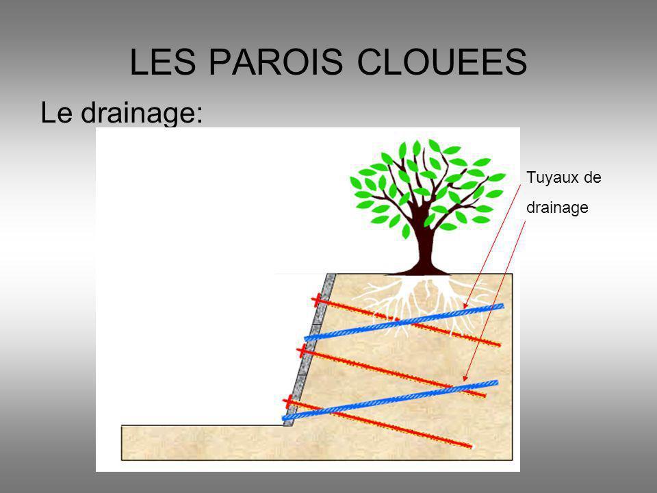 LES PAROIS CLOUEES Le drainage: Tuyaux de drainage