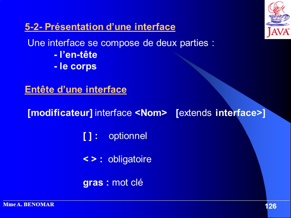 5-2- Présentation d'une interface