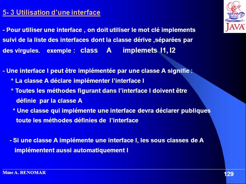 5- 3 Utilisation d'une interface