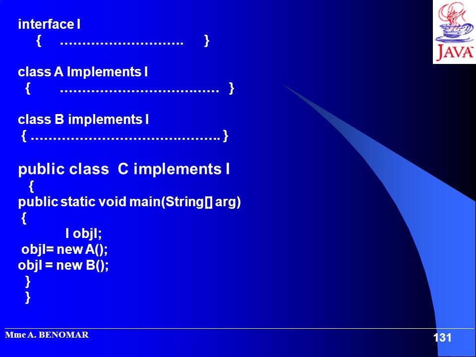 public class C implements I