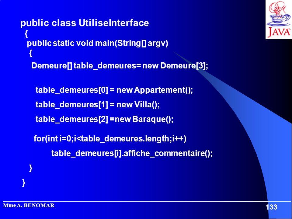public class UtiliseInterface