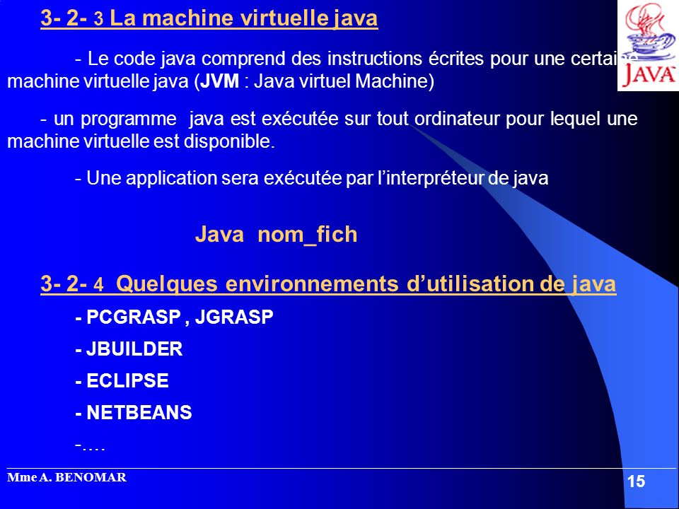 3- 2- 3 La machine virtuelle java