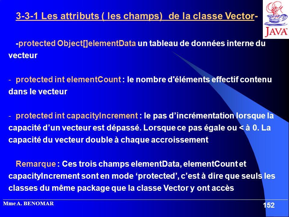 3-3-1 Les attributs ( les champs) de la classe Vector-