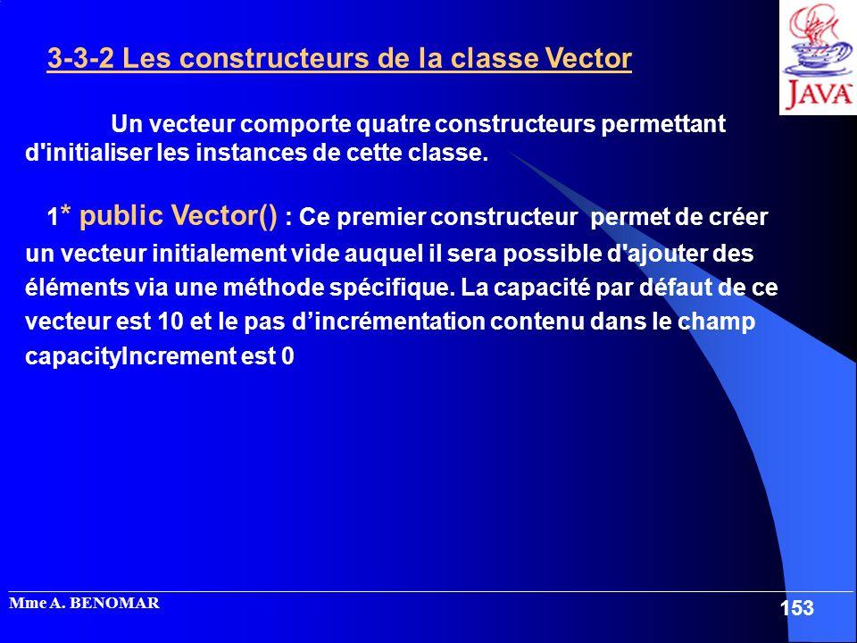 3-3-2 Les constructeurs de la classe Vector