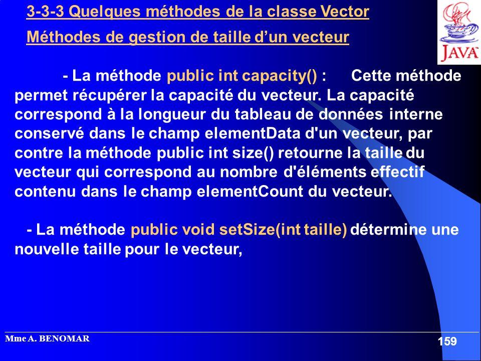 3-3-3 Quelques méthodes de la classe Vector