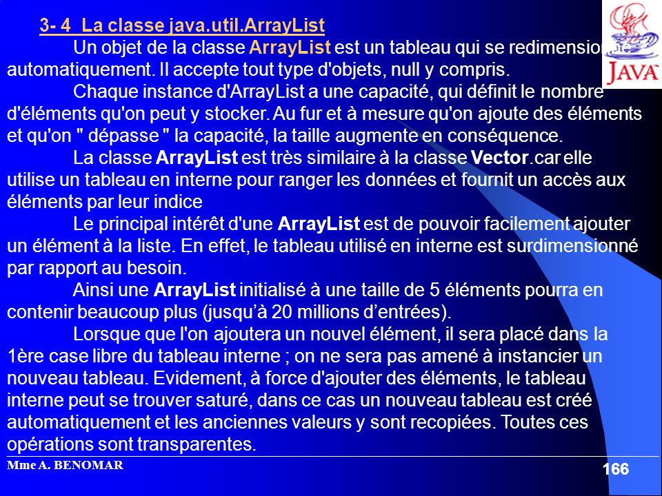 3- 4 La classe java.util.ArrayList