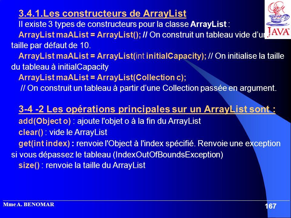 3.4.1.Les constructeurs de ArrayList