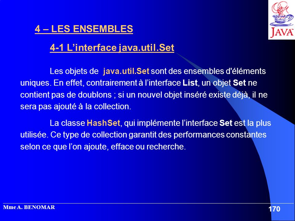 4-1 L'interface java.util.Set