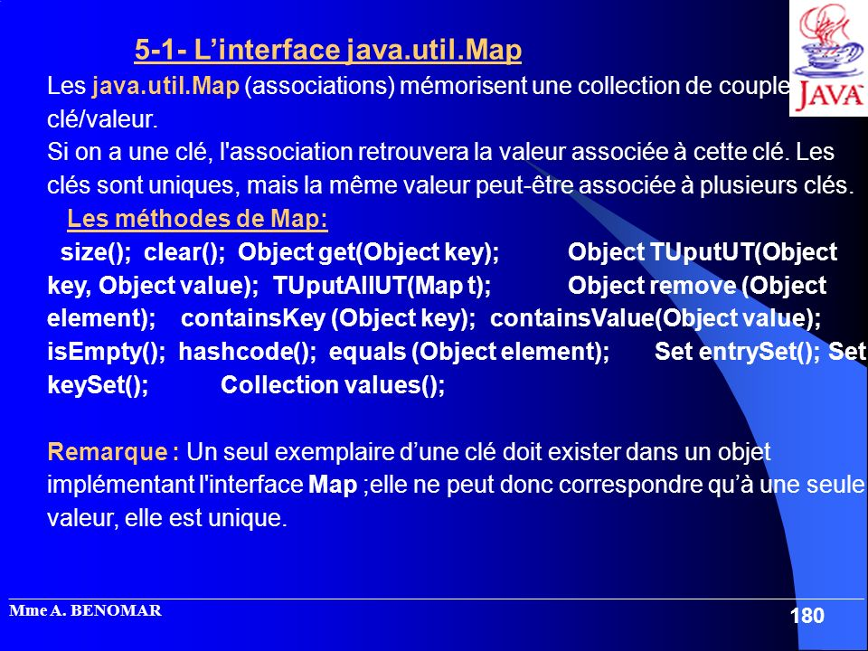 5-1- L'interface java.util.Map