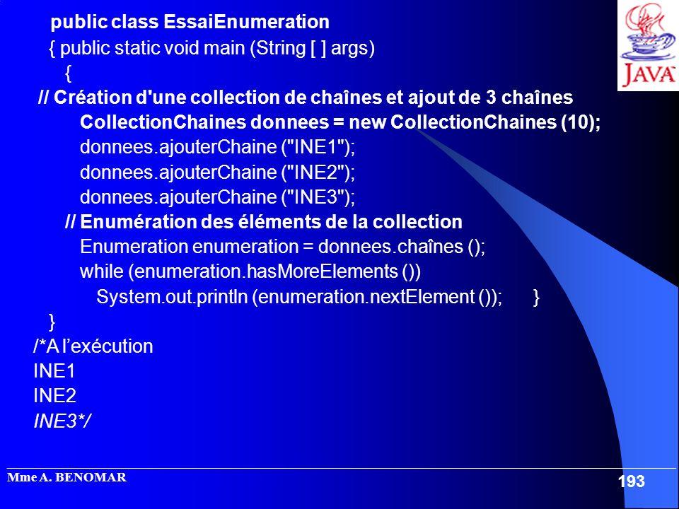 public class EssaiEnumeration