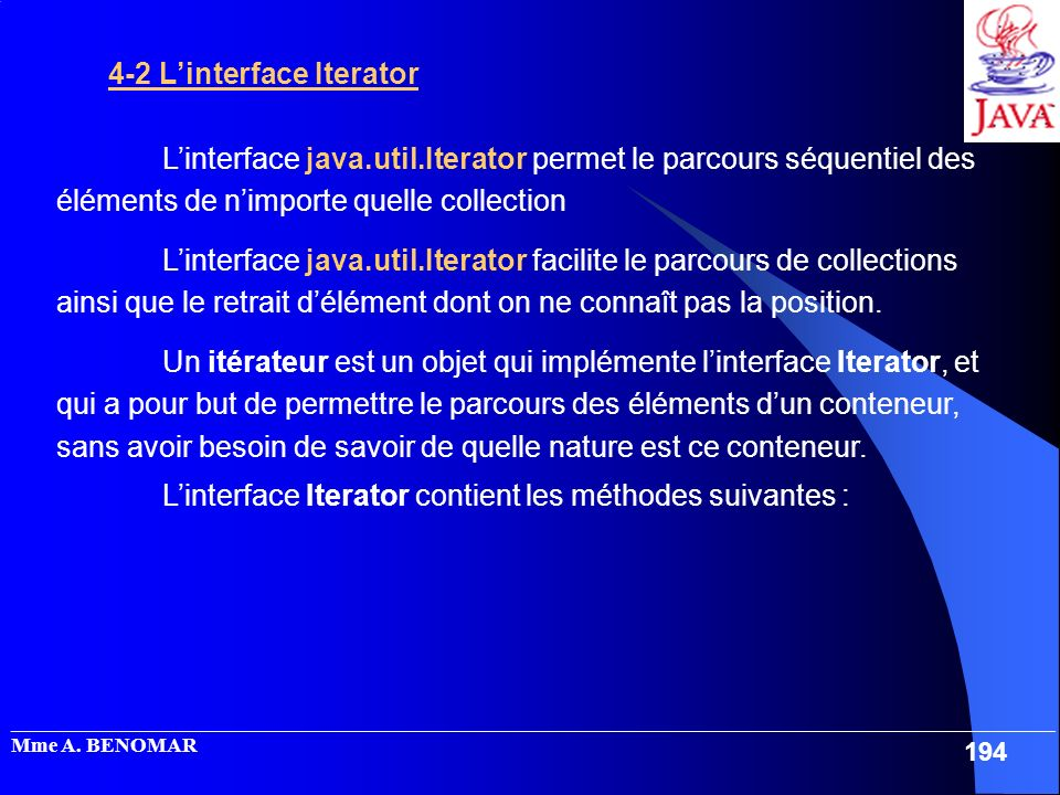 4-2 L'interface Iterator