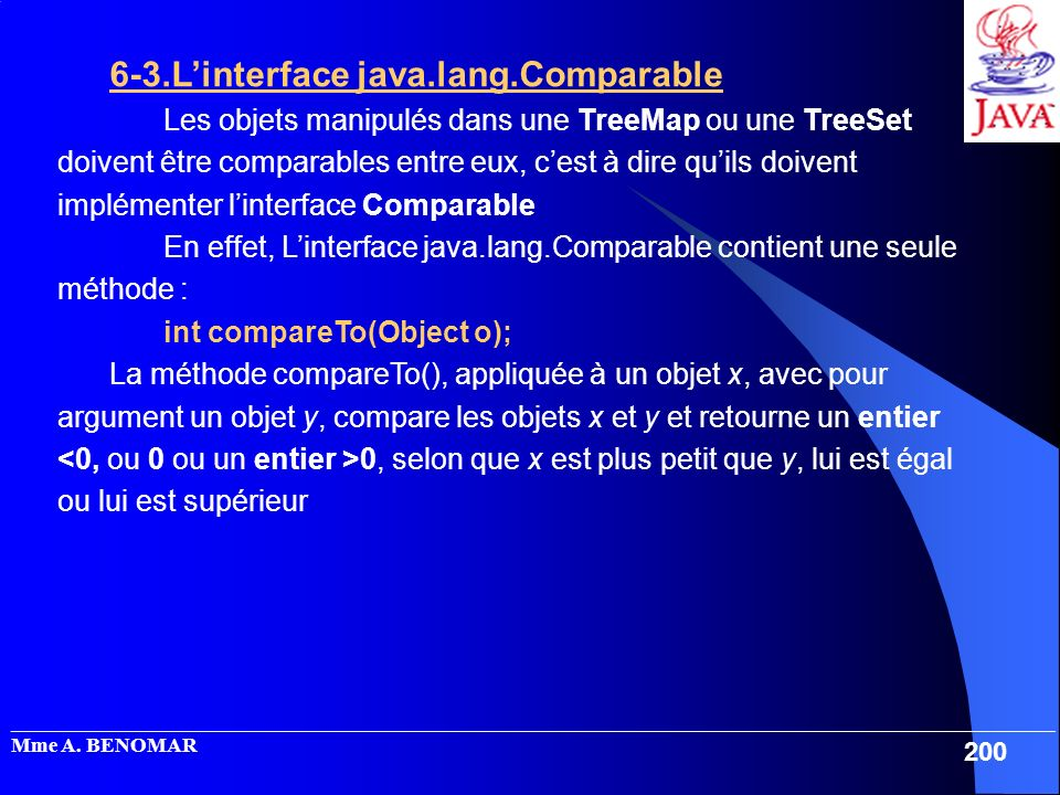 6-3.L'interface java.lang.Comparable
