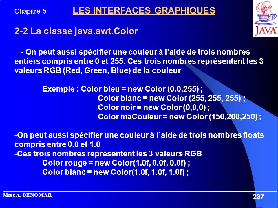 2-2 La classe java.awt.Color