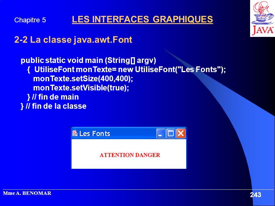 2-2 La classe java.awt.Font