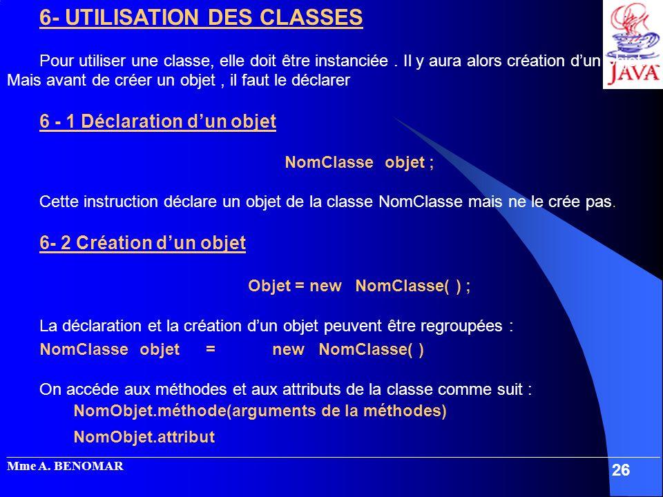 Objet = new NomClasse( ) ;